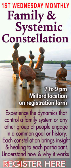Family Constellation group meets on the 1st Wednesday Monthly at 7 pm in Milford, CT. T